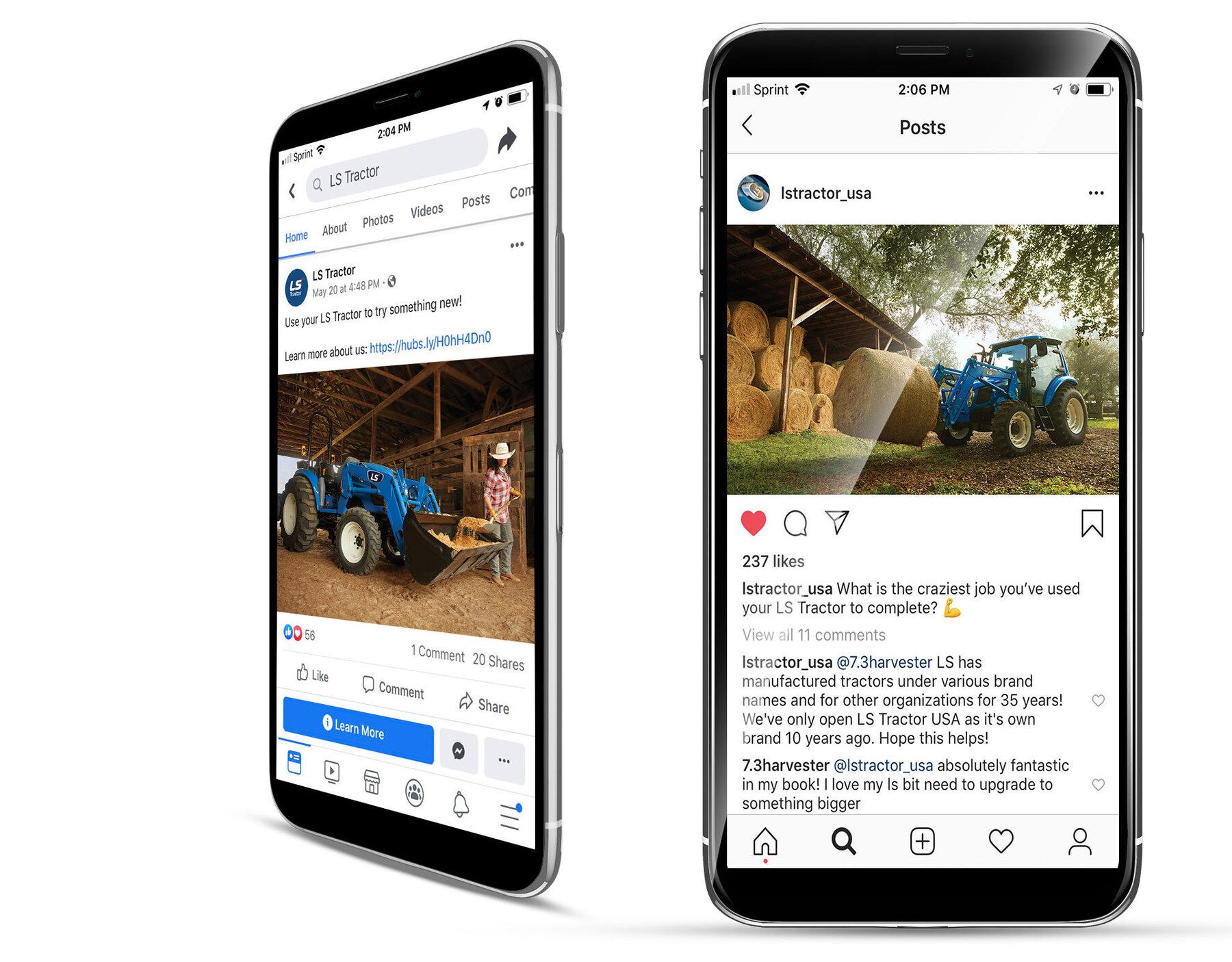 Ls tractor social media
