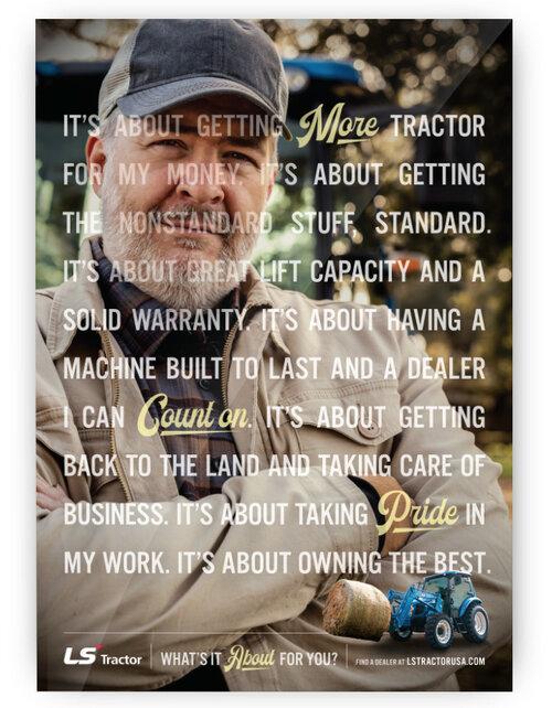 Ls tractor print ad 1
